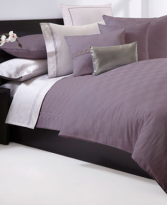 Hugo Boss Bedding, Windsor Plum Collection