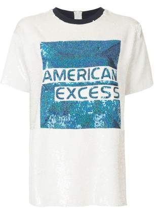 Ashish American Excess graphic sequined T-shirt