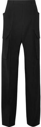 Rick Owens - Stretch-wool Crepe Wide-leg Pants - Black $1,325 thestylecure.com