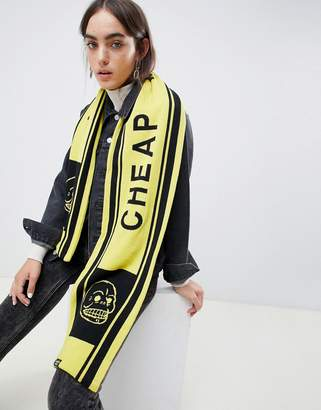 Cheap Monday skull soccer scarf