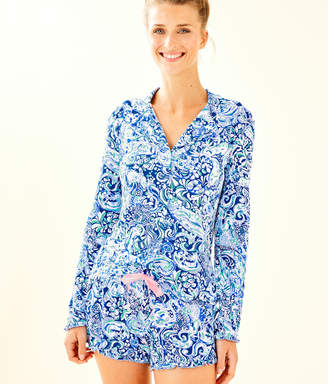 Lilly Pulitzer Ruffle PJ Button Front Top