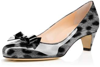 ad5ce46ad8a at Amazon Canada · YDN Women Closed Round Toe Pumps Low Heels Shoes with  Bowknot for Work Office Ladies