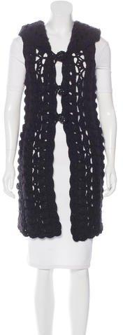 ChanelChanel Crochet Hooded Vest