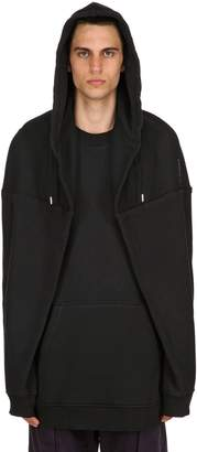 Y/Project Paneled Cotton Jersey Sweatshirt Hoodie