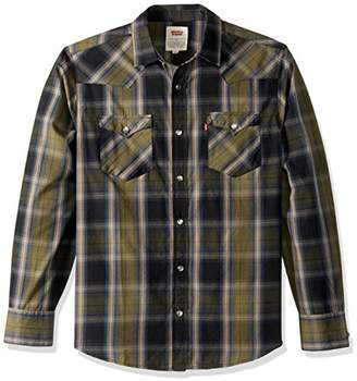 Levi's Men's Jords Plaid Western Style Shirt