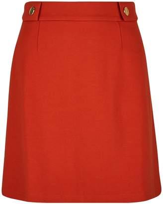Dorothy Perkins Womens Petite Rust Popper Mini Skirt