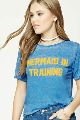 Forever 21 Mermaid In Training Graphic Tee