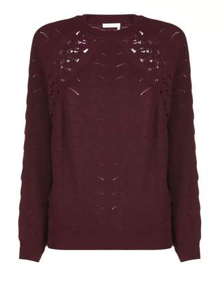 See by Chloe Lace Crochet Sweater