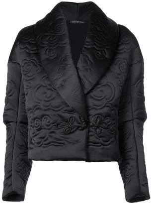 Josie Natori shawl collar cropped jacket