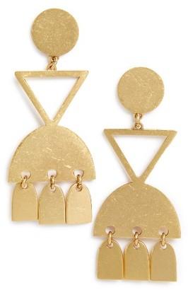 Women's Madewell Geo Statement Drop Earrings $34 thestylecure.com