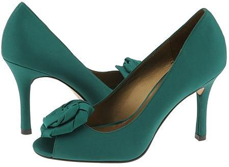 Charles by Charles David Rosa Green Satin - Footwear