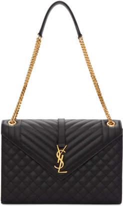 Saint Laurent Black Large Monogramme Envelope Chain Bag