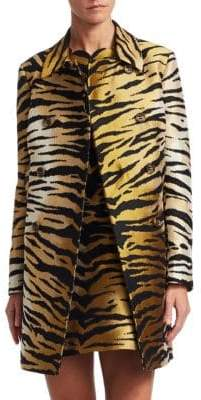 RED Valentino Tiger-Print Coat
