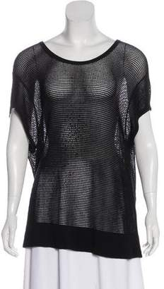 Rag & Bone Short Sleeve Mesh Top