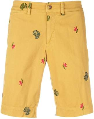 Jeckerson embroidered fitted shorts