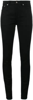 Saint Laurent Black original mid rise skinny jeans