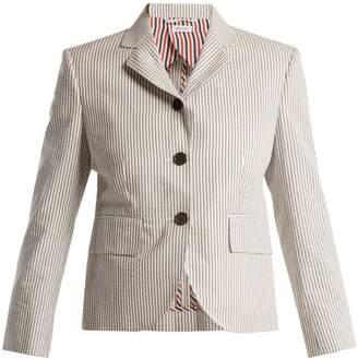 Thom Browne Striped seersucker blazer