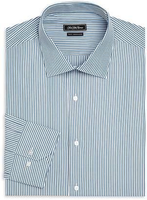 Saks Fifth Avenue Men's Trim-Fit Striped Cotton Dress Shirt