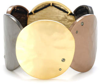 Kenneth Cole New York Tri Tone Circle Stretch Bracelet