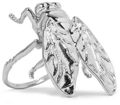 Balenciaga Balenciaga - Bug Silver-tone Ring - 52