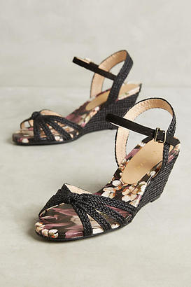 Vicenza Black Cross Strap Wedge Sandals $138 thestylecure.com