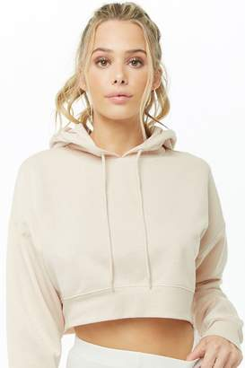 Forever 21 Active Hooded Fleece Cropped Top