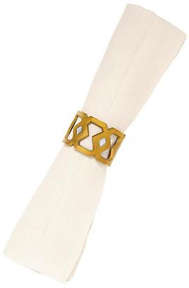 Mela Artisans Monroe Napkin Ring - Gold