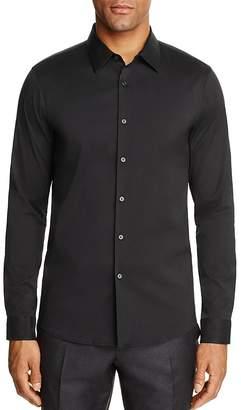 Michael Kors Stretch Cotton Slim Fit Button-Down Shirt $178 thestylecure.com