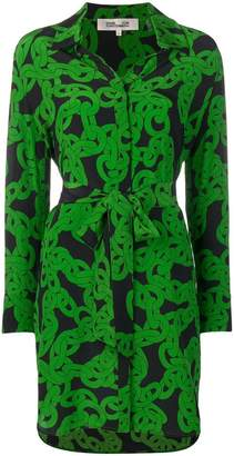 Diane von Furstenberg crawling chain shirt dress