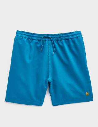 Carhartt Wip Chase Poly Swim Trunk in Pizol/Gold