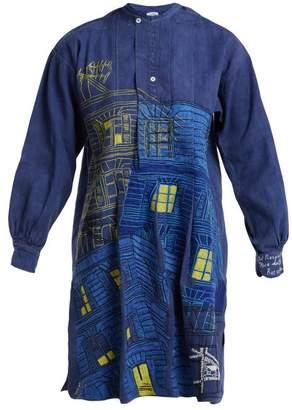 Bac Kilometre Paris - Rue Du Embroidered Denim Tunic - Womens - Blue Multi