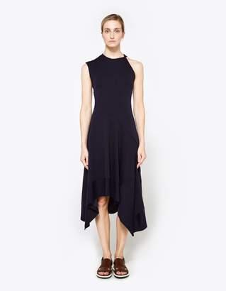 Proenza Schouler One Sleeve Asymmetrical Waist Dress