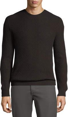 Loro Piana Men's Chainlink-Knit Cashmere Sweater