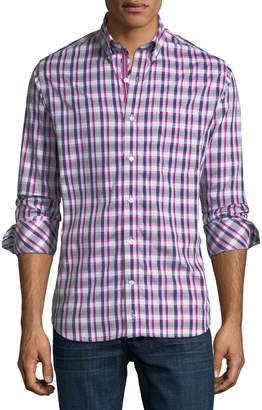 Tailorbyrd Casual-Fit Check Sport Shirt