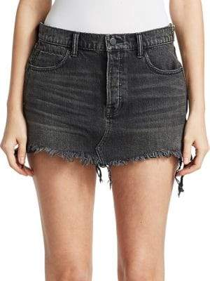 alexanderwang.t Five-Pocket Denim Mini Skirt