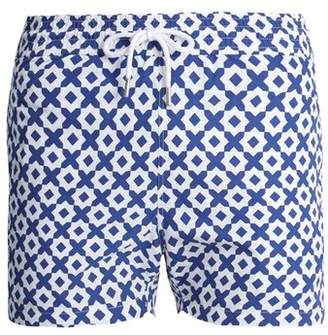 Frescobol Carioca - Sports Paraty Print Swim Shorts - Mens - Navy