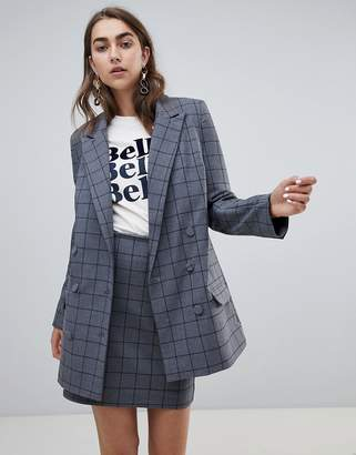 Gestuz check gray blazer