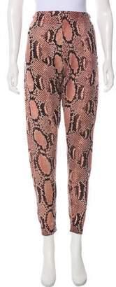 Stella McCartney High-Rise Animal Print Pants
