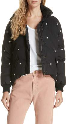 The Great Heart Embroidered Puffer Coat