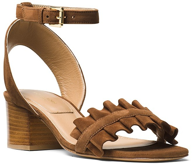 Michael Kors Collection Monroe Ankle Strap Mid Heel Sandals