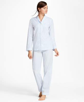 Brooks Brothers Striped Cotton Poplin Pajama Set