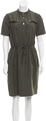 Burberry Burberry Brit Drawstring-Accented Short Sleeve Dress