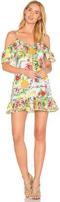 Camilla V Back Dress in Green $580 thestylecure.com