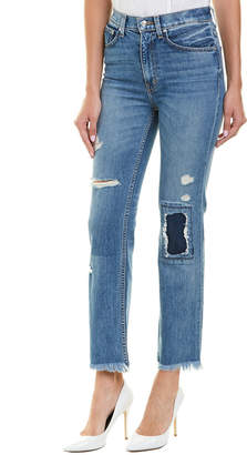 Derek Lam 10 Crosby Leah Medium Wash High-Rise Straight Leg