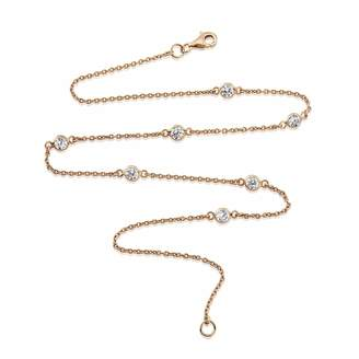 "Auree Jewellery - Sofia 18ct Rose Gold Vermeil & Cubic Zirconia Short 15"" Necklace"