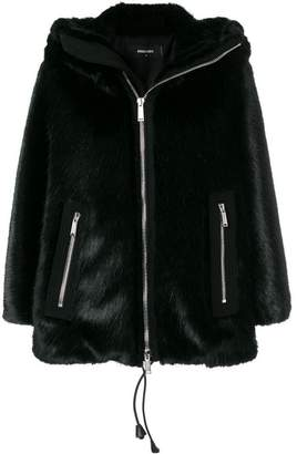DSQUARED2 faux fur hooded jacket