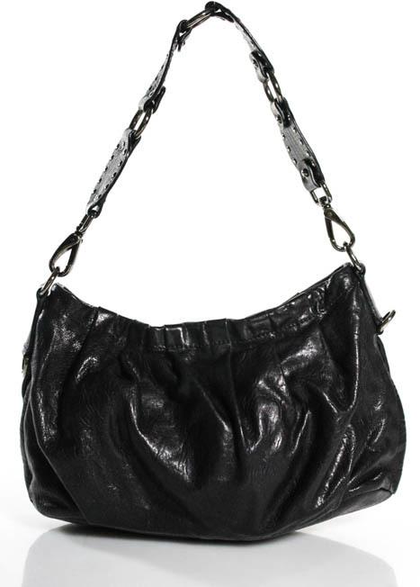 Miu MiuMiu Miu Black Leather Small Slouchy Baguette Satchel Handbag