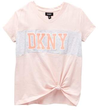 DKNY Embellished Knot Tee (Big Girls)