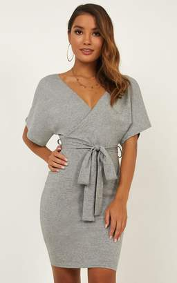 d9a36effc2e Showpo Off Topic Dress in grey marl - 12 (L) Casual Dresses