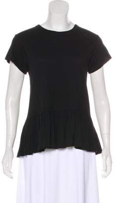 The Great Distressed Ruffle T-Shirt